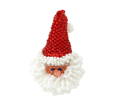 Santa Head Brooch