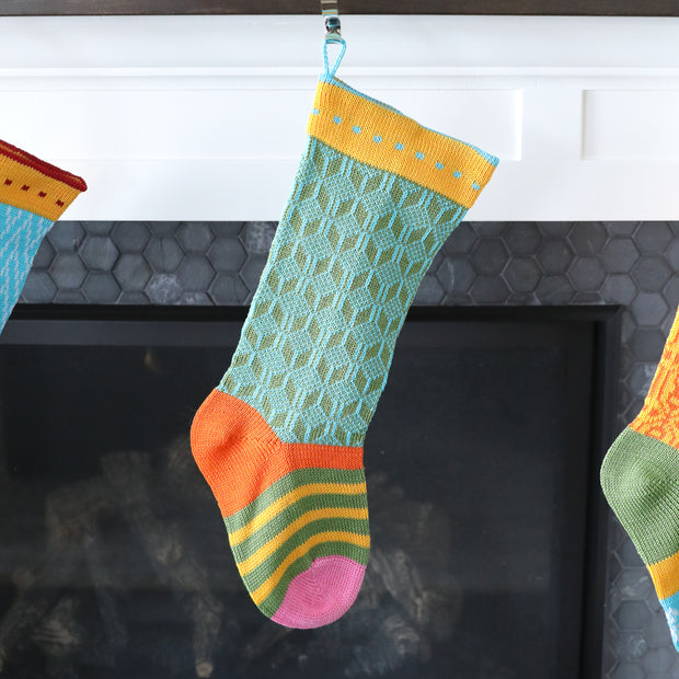 Colorful Stocking, Green 1