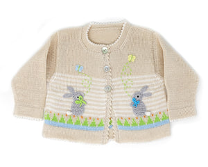 Easter Cardigan with Bunnies