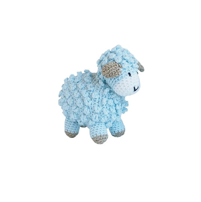 Little Crochet Lamb, Blue