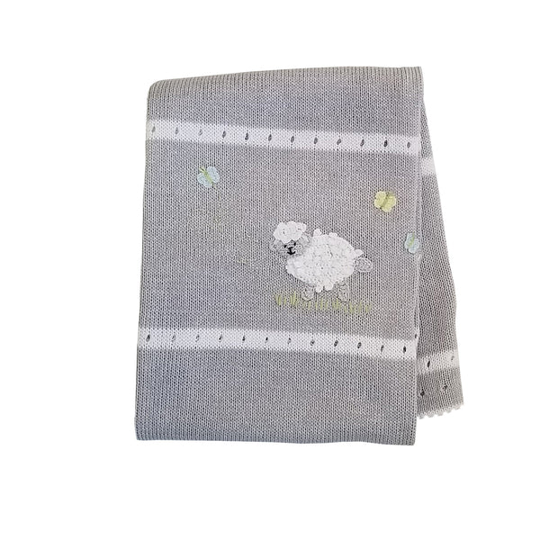 Lamb Baby Blanket, Grey