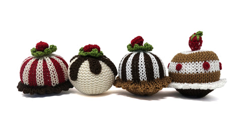 Christmas Pastry Ornaments- set of 4