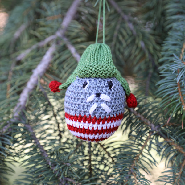 Crochet Walrus Ornament