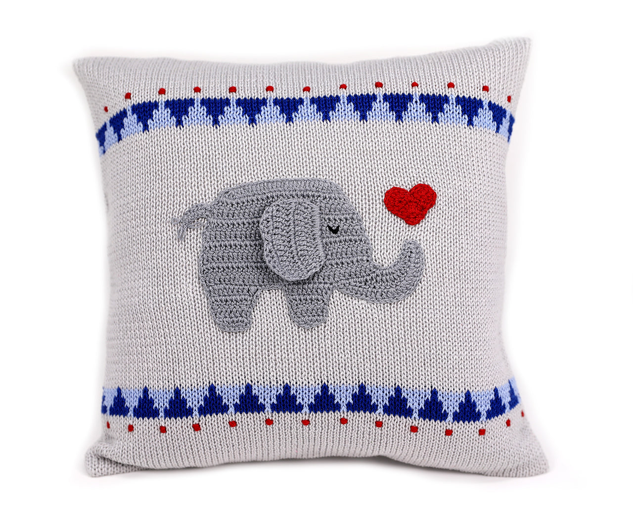 "Elephant with Heart 10"" Pillow"