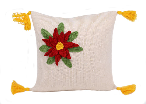 "Poinsettia 10"" Pillow"