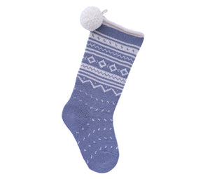 Nordic Roll Cuff Stocking - Grey