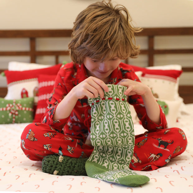 Green Patterned Stocking 1