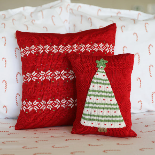 Striped Tree Mini Pillow