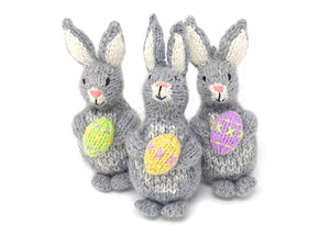 Bunny with Egg Ornament- set of 3