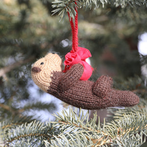 Otter Ornament- set of 3