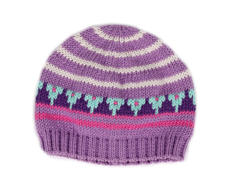 Striped Hat with Triangles