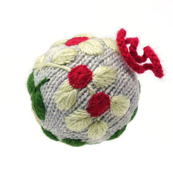 Embroidered Globe Ornaments - set of 3