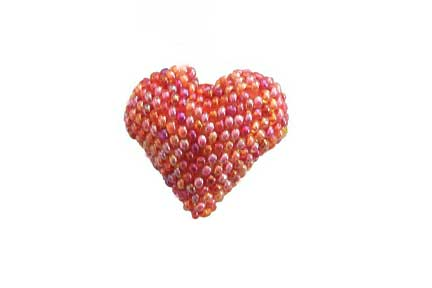 Heart Brooch - Pink