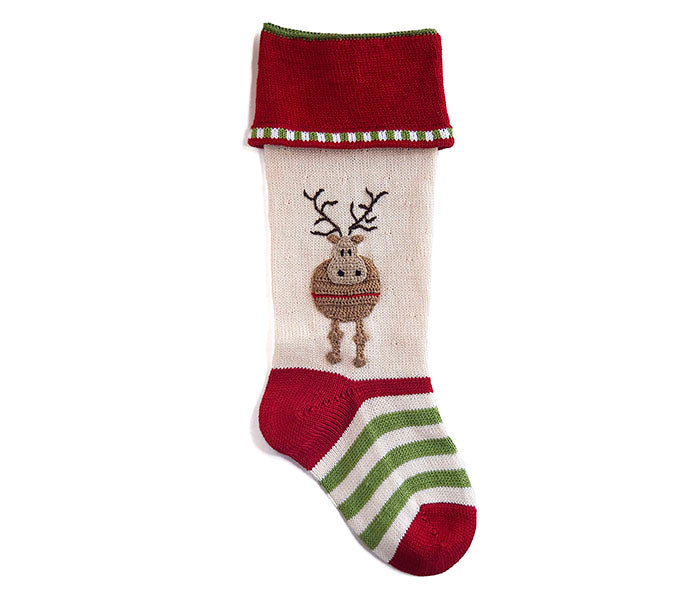 Round Reindeer Stocking