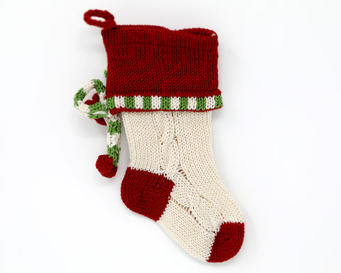 Mini Cable-Knit Bow Stocking