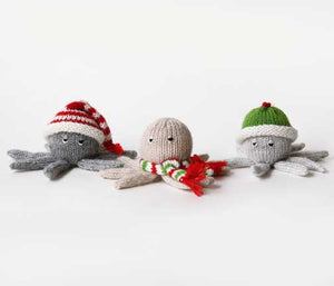 Octopus Ornament- set of 3