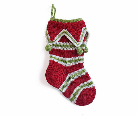Mini Elf Cuff Stocking, Red