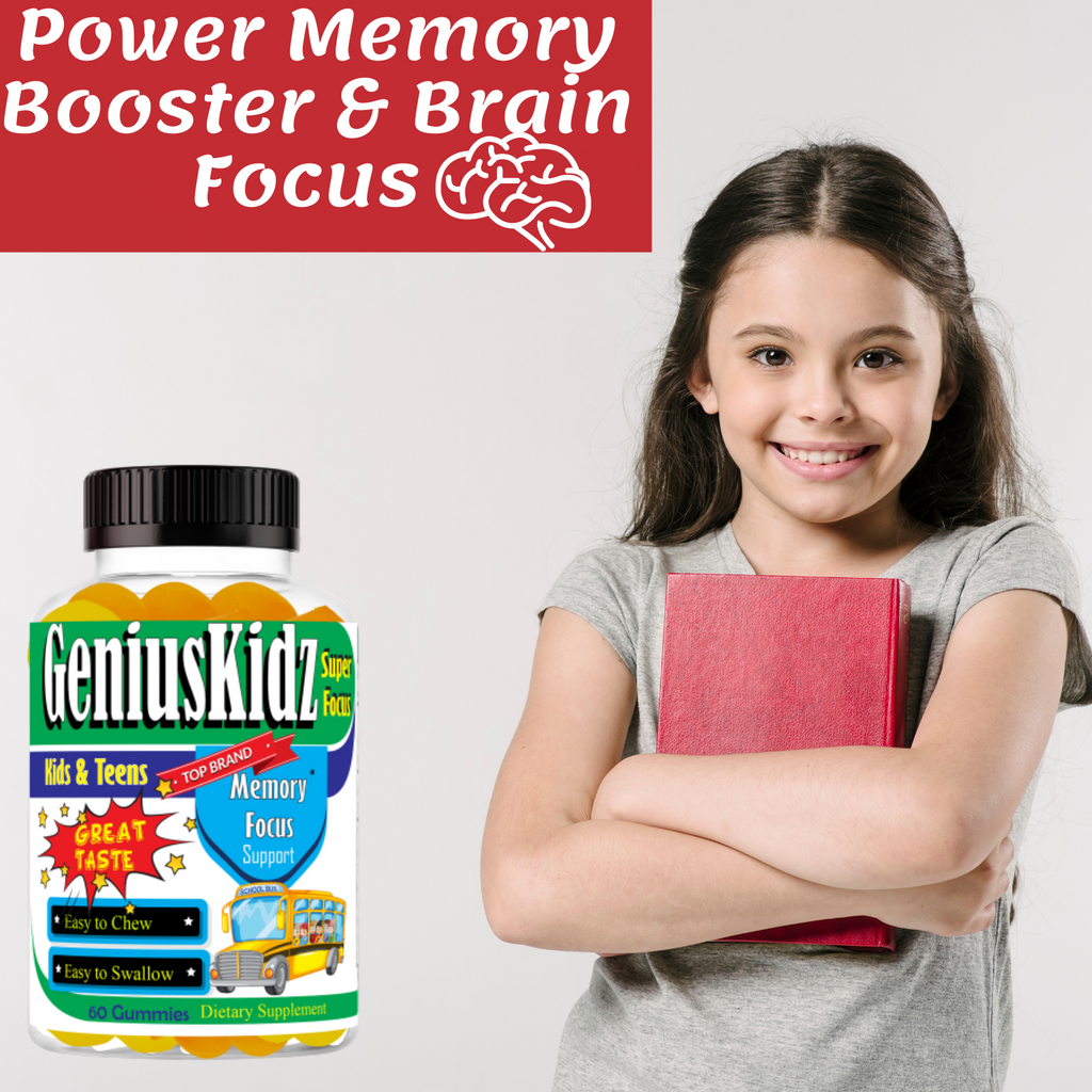 Kids Brain Booster Gummies Chewable Vitamins with Omega 3-6-9, EPA