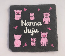 Load image into Gallery viewer, Hand painted slate coaster