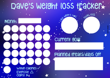 Load image into Gallery viewer, Personalised weight loss tracker whiteboard