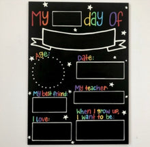 Load image into Gallery viewer, Starting School Hand Painted Chalkboard