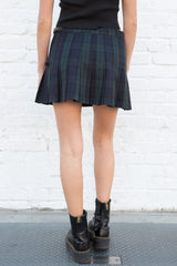 Navy Blue And Dark Green Plaid / XS/S