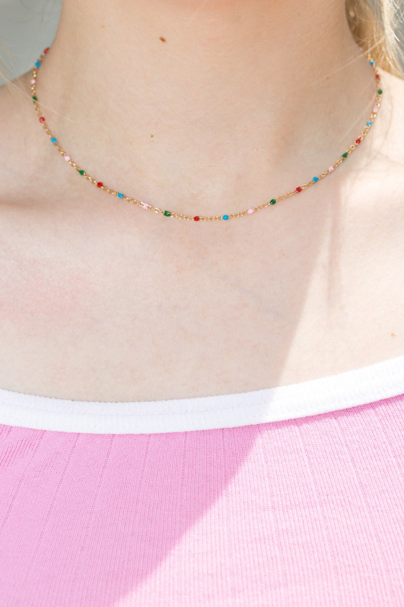 Multi-Coloured Bead Necklace