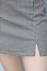 Black and White Gingham / S