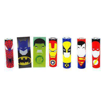 18650 Battery Wrap w/ Designs (5pack)