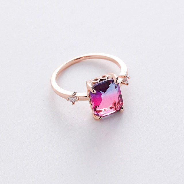 Micro Inlaid Crystal Ring