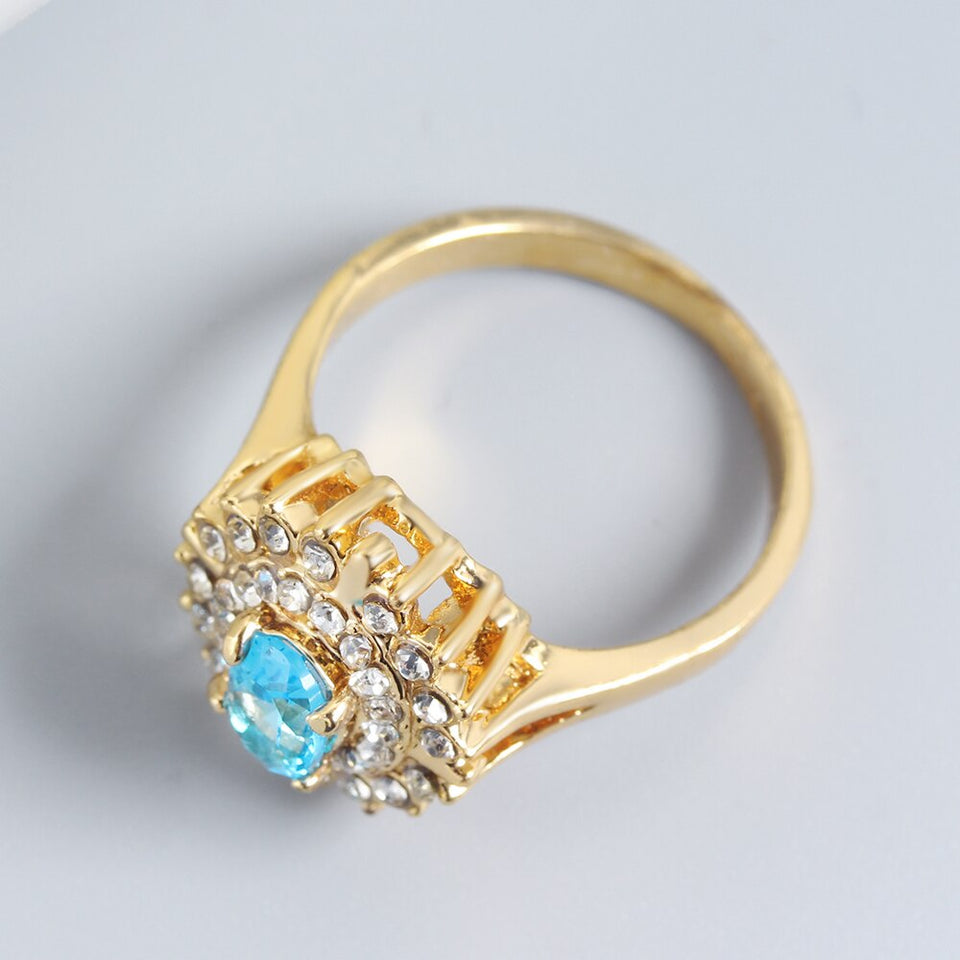 Golden Sun Flower Ring