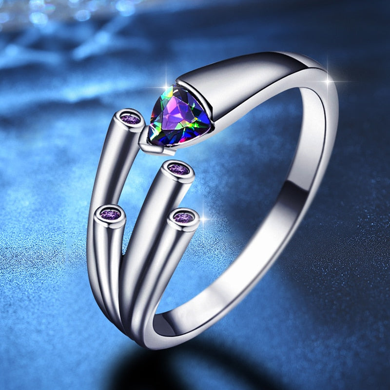 Triangle Purple Ring