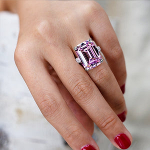 Shiny Big Rectangle Ring