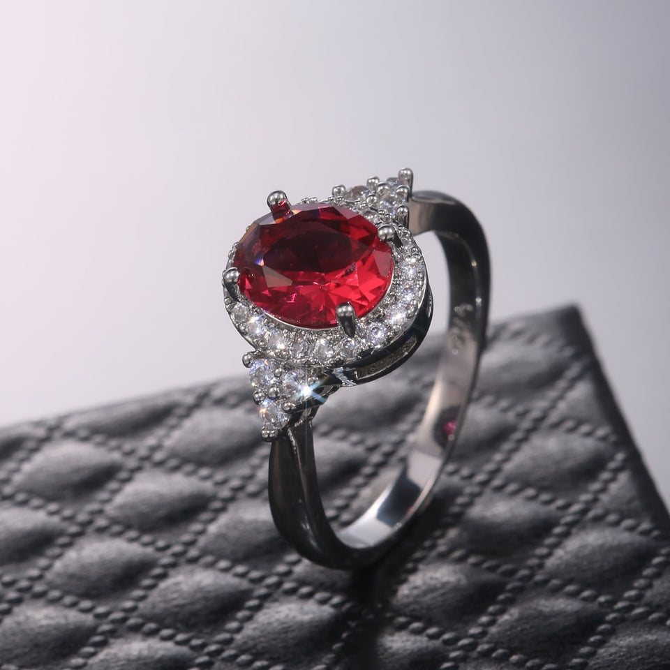 Red Oval Ring
