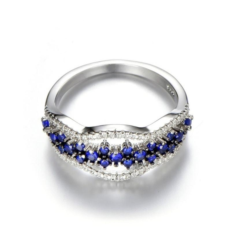 Multi Layer Blue Ring