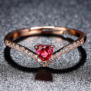 Hand Heart Shaped Ring