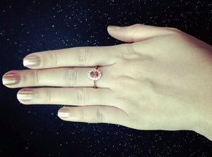 Classic Red Crystal Ring