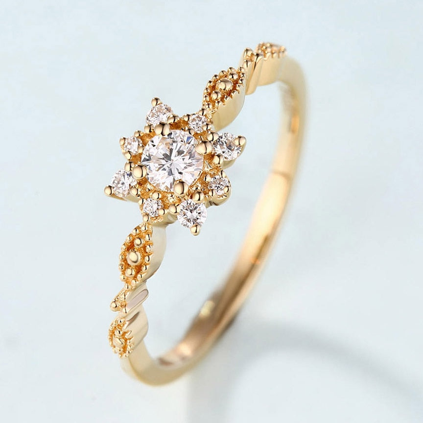 Creative Snowflake Ring