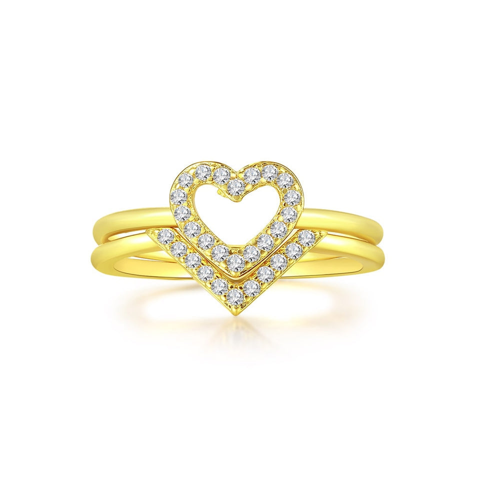 Light Gold Heart Ring