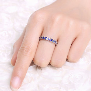 Geometry Blue Ring