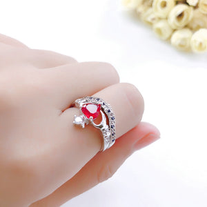 Crown Heart Love Ring