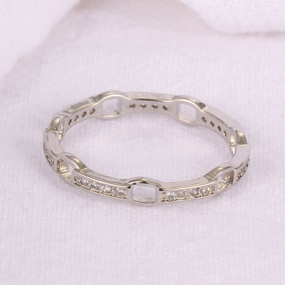 Silver Plated Couple Ring