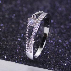 Silver Plated Hollow Ring