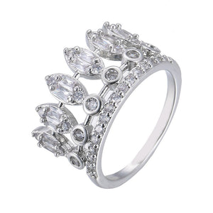 Crown Shape Silver Ring