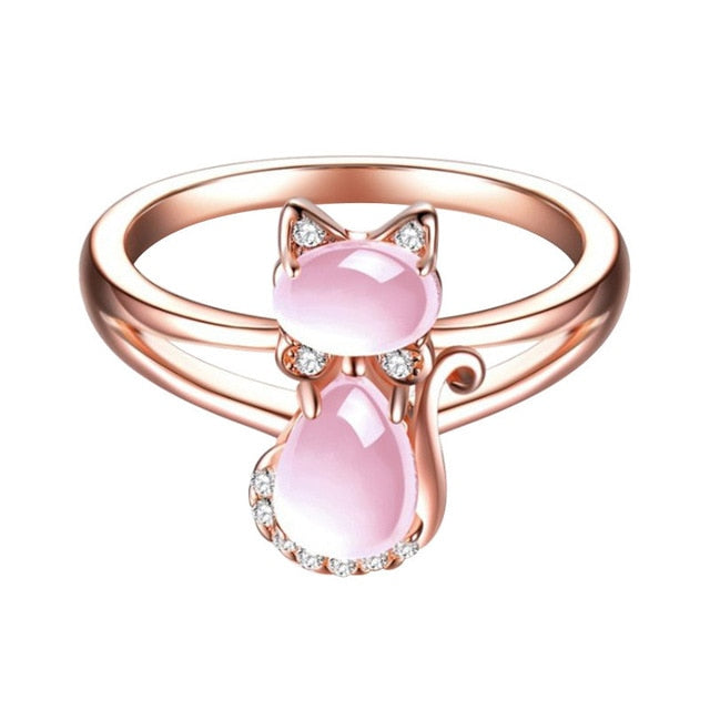 Cat Crystal Ring