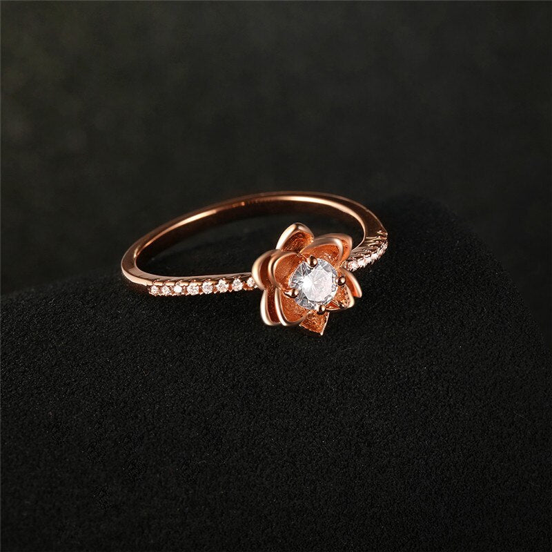 Flower Shaped Rose Ring
