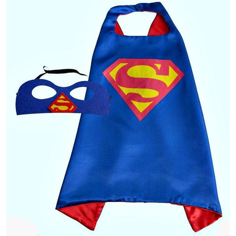 Boys Superhero Cape and Mask (many to choose from including Batman, Superman etc)