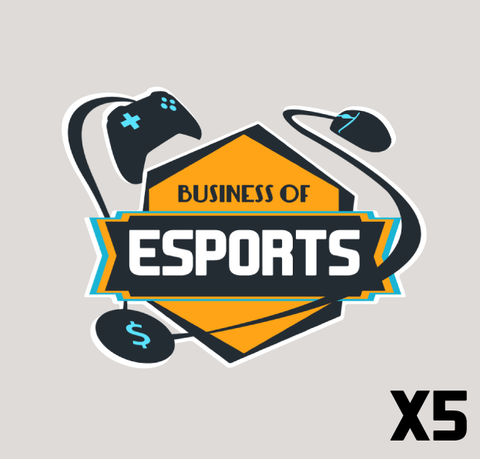 Business of Esports Logo Sticker (Pack of 5)