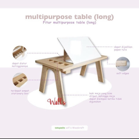 Special Bundling Multipurpose Table (Long)