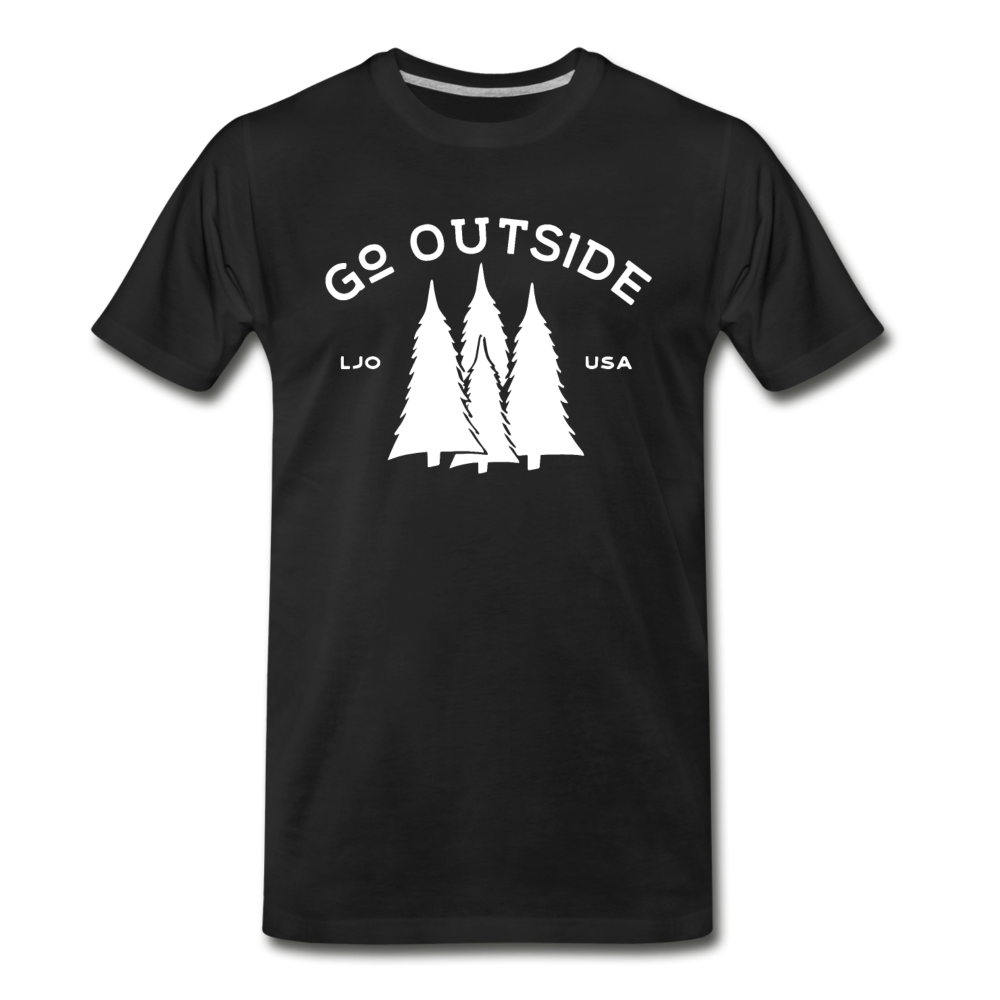 Go Outside T-Shirt - black